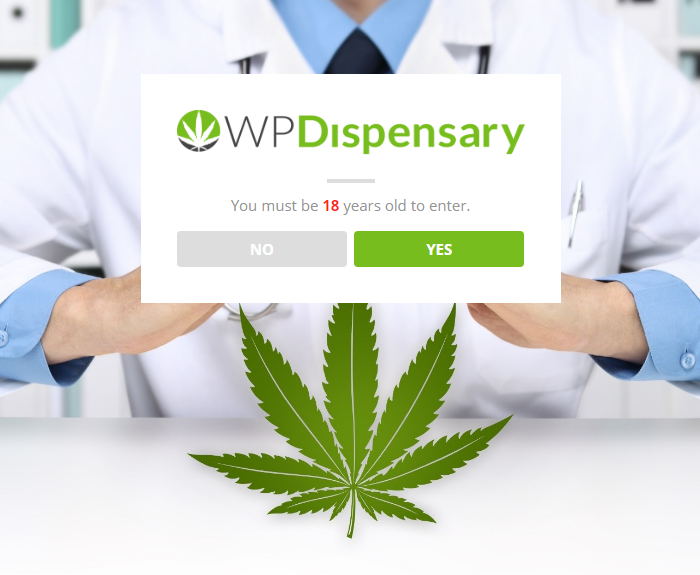 Dispensary Age Verification WordPress Plugin